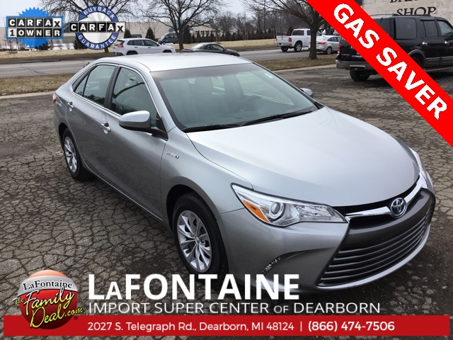 Certified Pre Owned 2016 Toyota Camry Hybrid Le